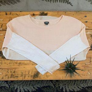 Roots Silk-Blend Colour-Block Tunic Top